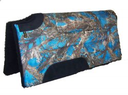 CAMOUFLAGE CUTBACK SADDLE PAD WITH FLEECE, SQUARE, camouflage, cutback, saddle, pad, fleece, Triple E Manufacturing