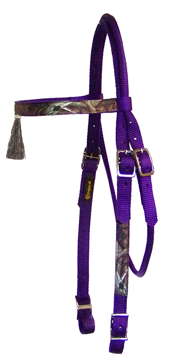 Realtree Browband Headstall with Tassel & Conway Buckles