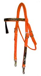 Realtree Browband Headstall with Tassel & Snaps