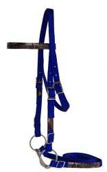 Realtree Draft Bridle with Buckles, Includes Bit & Reins
