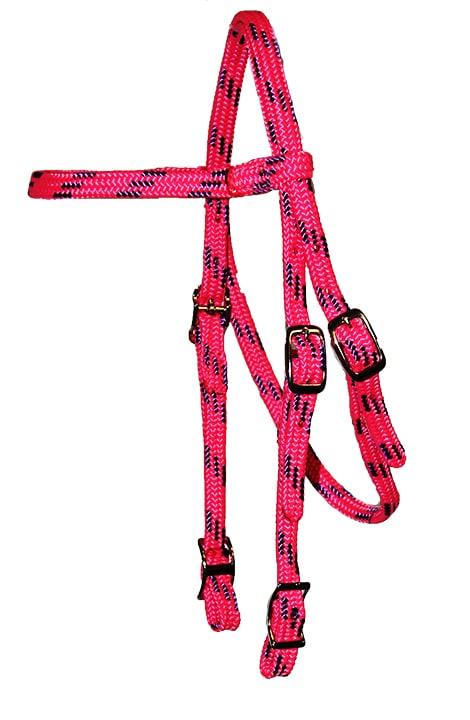 MINI BROWBAND HEADSTALL, 5/8″ SOFT TOUCH FLAT BRAID WITH CONWAY BUCKLES, mini, browband, headstall, soft braid, Triple E Manufacturing