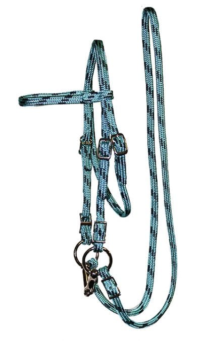 MINI BRIDLE, 5/8″ SOFT TOUCH FLAT BRAID W/ 3-1/2″ BIT & 4′ REINS, soft braid, mini, bridle, Triple E Manufacturing