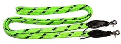 7/8″ X 8′ SOFT TOUCH FLAT BRAID TRAIL REIN W/ SLOBBER STRAPS & SNAPS, reins, soft braid, trail, Triple E Manufacturing