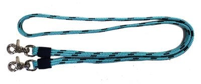 5/8″ X 5′ MINI SOFT TOUCH FLAT BRAID REIN W/ SNAPS, rein, soft braid, mini, Triple E Manufacturing