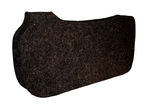 1/4″ CONTOURED CUT-OUT WOOL FELT SADDLE PAD LINER, 30″ X 30″, pad liner, wool felt, Triple E Manufacturing