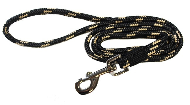 4′ DOG LEASH, 5/8″ SOFT TOUCH FLAT BRAID W/ NICKEL PLATED SNAP, dog leash, soft braid, soft touch, Triple E Manufacturing