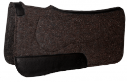 CONTOURED 100% WOOL FELT LAYERED SADDLE PAD WITH MEMORY FOAM INSERT, contoured, felt saddle pad, saddle pad, wool felt, memory foam insert, Triple E Manufacturing
