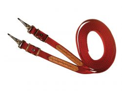 Split Reins, nylon, leather overlay, reins, Triple E Manufacuring
