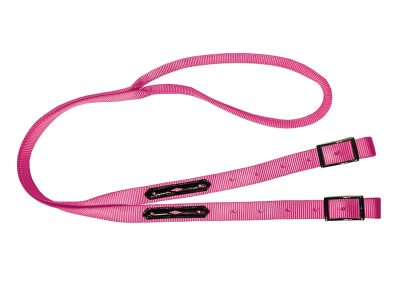 Rolled Game Rein, leather overlay, nylon, reins, Triple E Manufacturing