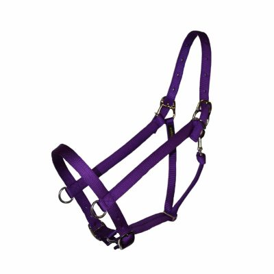 Parker Adjustable Halter with D-Rings and Snap, Triple E Manufacturing, nylon