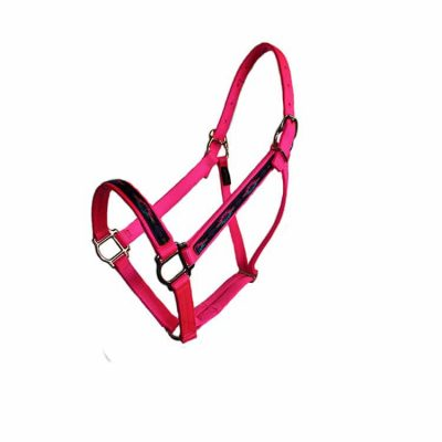 Parker Overlay Halter with squares no snap, Triple E Manufacturing, nylon