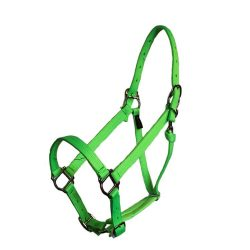 Parker Adjustable Halter with squares and snaps, adjustable, squares, snap, halter, nylon, Triple E Manufacturing