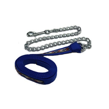 nylon lead w/ looped on chain and overlay, overlay, southwest, nylon, lead, looped on chain, Triple E Manufacturing