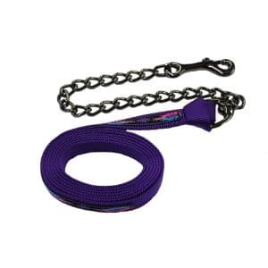 nylon, lead, looped, on, steel gray, chain, Triple E Manufacturing