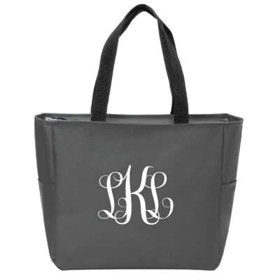 embroidered essential tote, tote bag, Triple E Manufacturing